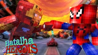 Minecraft : IRON MAN vs SPIDER-MAN - BATALHA DE HERÓI - GUERRA CIVIL