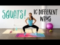 10 Squat Variations to Tone Your Booty! | The 10 BEST Squats you HAVE to Try!