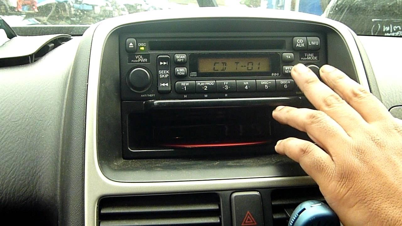 2006 HONDA CRV 22 ICTDI CDRADIO PLAYER  YouTube