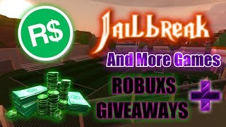 🔴|| ROBLOX|| Jailbreak&More Games+| ROBUXS GIVEAWAYS|#88🔴COME JOIN AND HAVE FUN!