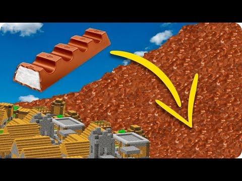 TSUNAMI DE CHOCOLATE CON LECHE EN MINECRAFT | RETO DE LA BASE VS TSUNAMI EN MINECRAFT