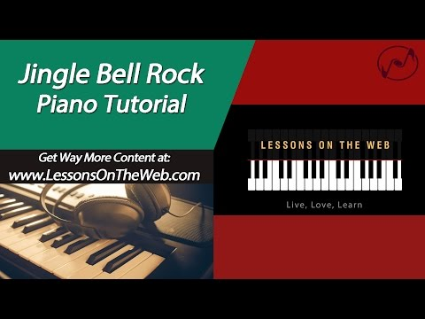 Jingle Bell Rock Piano Tutorial EASY - Christmas Sheet Music Walkthough