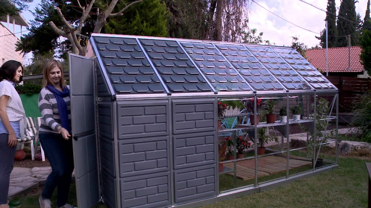 Palram Grow Store Greenhouse Shed Combo Youtube