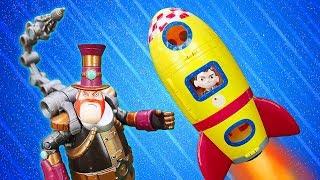 Видео про игрушки из мультфильмов Бен 10. Стим Смит строит козни, а Бен Тен улетел в космос! Игры