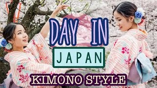 A Day in JAPAN | Wearing a Kimono | SAKURA Cherry Blossoms | KimDao