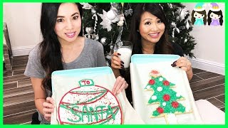 Princess ToysReview Bakes Giant Size Christmas Cookies for Santa!