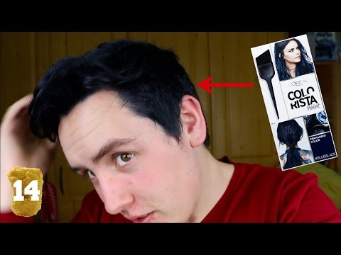 DYING MY HAIR BLUE BLACK WITH L'ORÉAL COLORISTA!