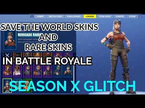 Get any STW Character or Rare Skin in Fortnite Battle Royale