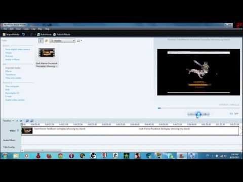 How To Mute Or Seperate Audio From Video In Movie Maker 6 0 ! Windows 7