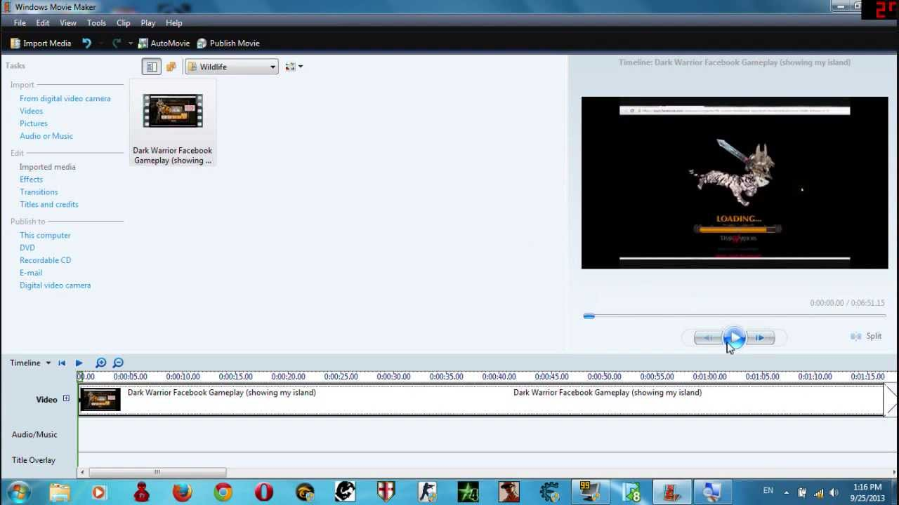 how to mute or seperate audio from video in movie maker 6