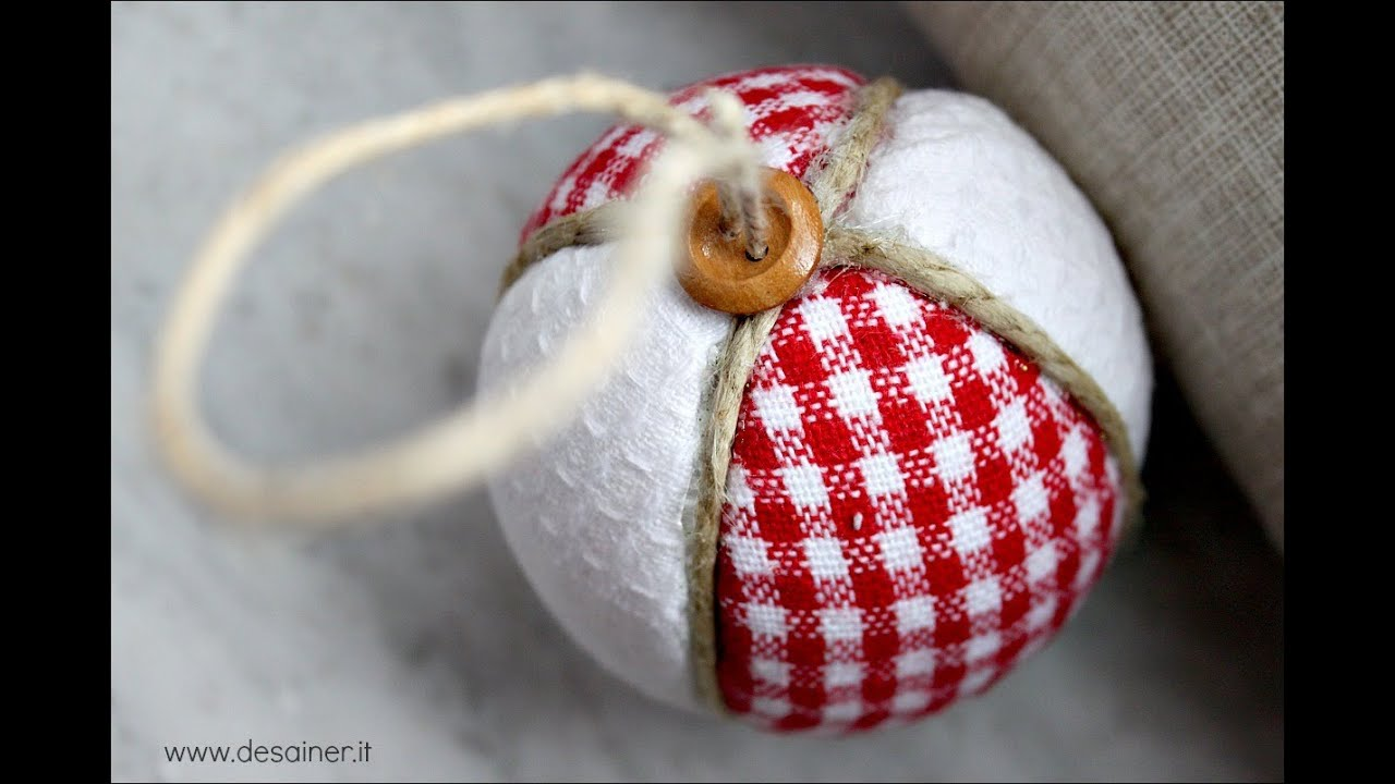 Palline di natale patchwork - YouTube