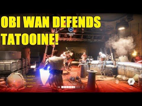 Star Wars Battlefront 2 - Obi Wan Kenobi defends Tatooine! Obi Wan Killstreak! thumbnail