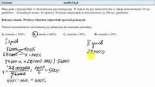Zadanie 12. Wzrost o procent .Egzamin przykładowy ósmoklasisty CKE | MatFiz24.pl