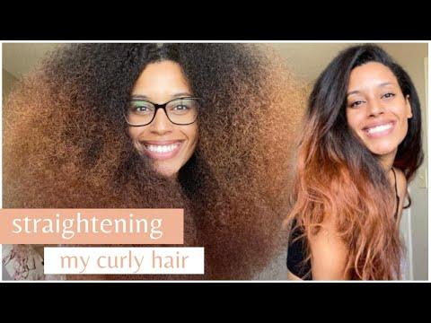 How I Straighten My Curly Hair (Using Minimal Heat)