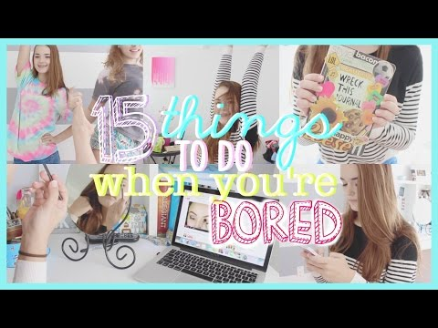 15 Things To Do When You're Bored!! | Reese Regan