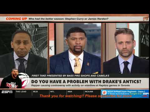"""Stephen A. Smith """"SHOCKED"""" Drake Was Causing Controversy With Activity On Sidelines At Raptors Games"""