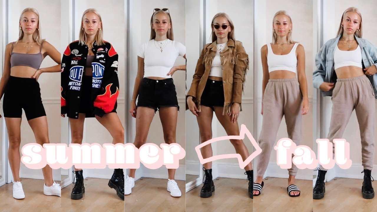 How to transition summer basics into fall outfits ft. AYM studio 2