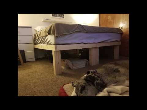 DIY 2x4 Bed Frame King Size