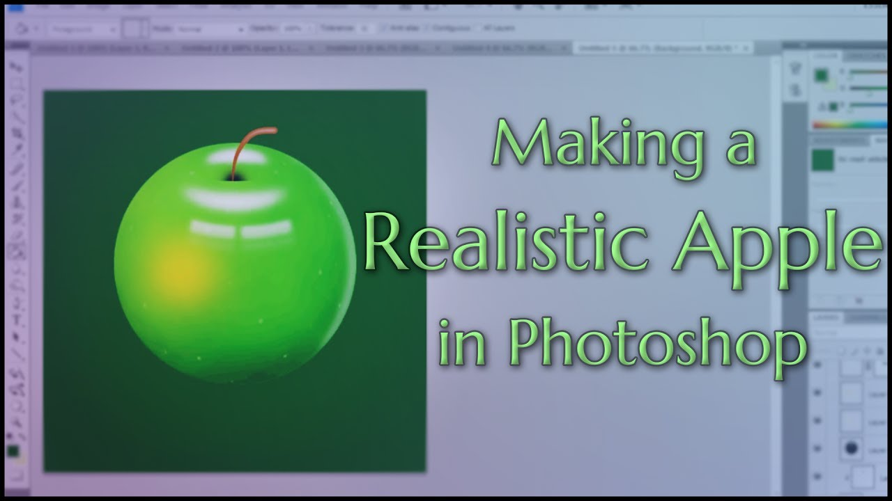 Making A Realistic Apple In Photoshop TUTORIAL IN