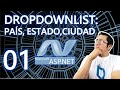 DropDownList para país, estado y ciudad
