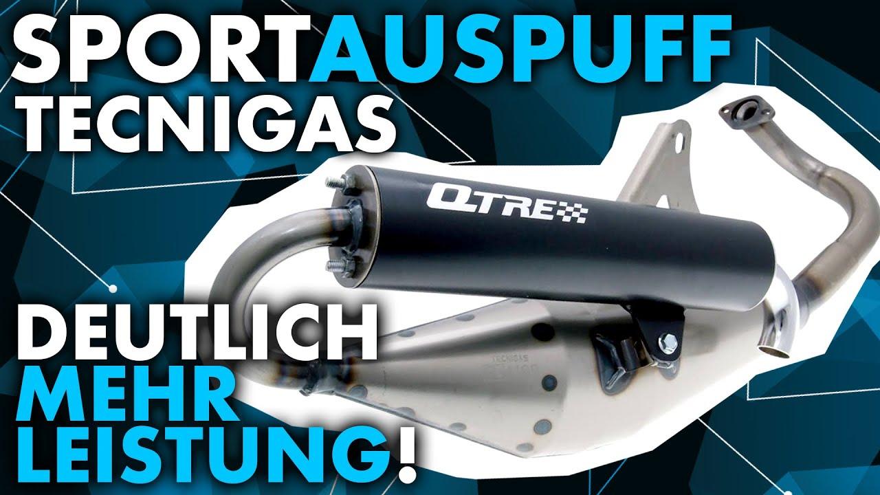 Sportauspuff-Einbau: Tecnigas Q-Tre an Piaggio New Typhoon (deutlich mehr Leistung!)