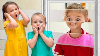 Five Kids Adventures in the museums of illusion + more Children's Songs and Videosc