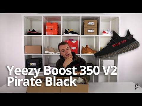 5b14a725 Yeezy Boost 350 V2 Pirate Black Unboxing & Review - YouTube