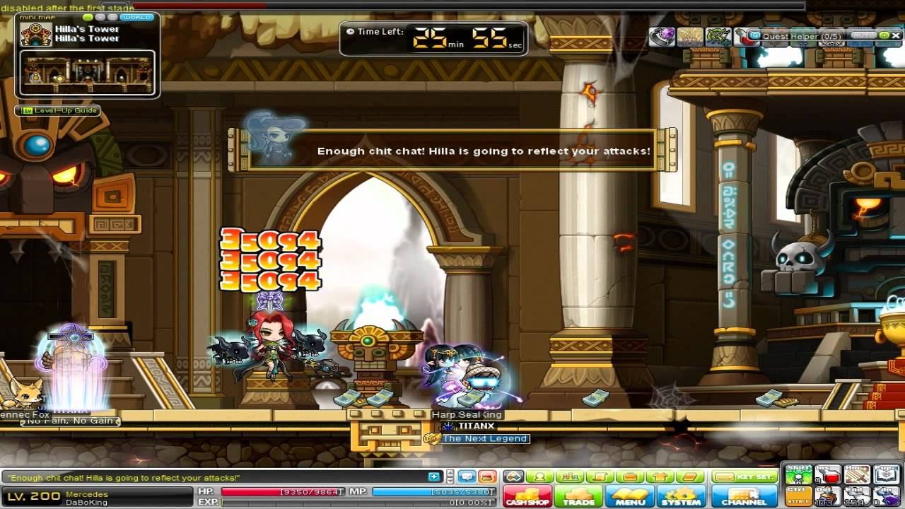 First Job Experience - Maple Story Hilla Boss Duo