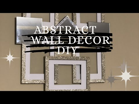 DIY Glam Dollar Tree Abstract Wall Decor