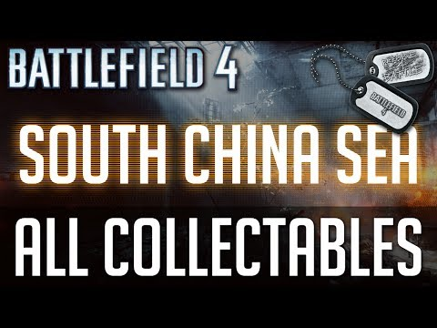 "Battlefield 4 - All Collectible Locations (Weapons and Dogtags) - Mission 3 ""South China Sea"""