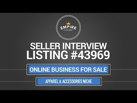 Online Business For Sale – $3.7K/month in the Apparel & Accessories Niche