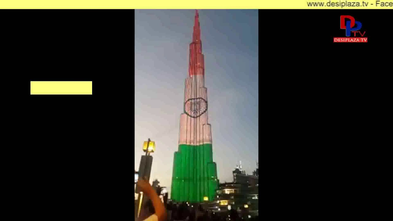 Indian flag at peaks on 68th Republic Day Celebrations || Burj Khalifa || Abudhabi