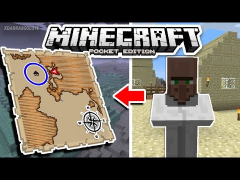 [1.1+] How To Obtain And Use Explorer Maps in Minecraft PE (Pocket Edition)