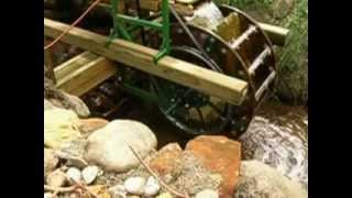 Home Made Water Wheel Generator By Seaburg