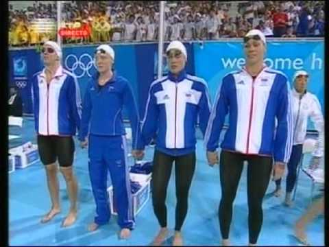 Athens 2004 - Women's 4x100 medley relay - World record