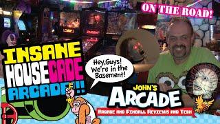 INSANE HOUSECADE! - ARCADE HOUSE - Horror, pinball machines, and classic arcade video games!