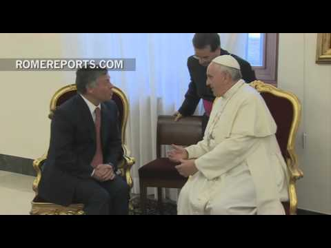 King of Jordan visits Pope Francis