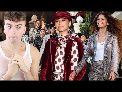 Reacting to Zendaya X Tommy Hilfiger Fashion Show (not everyone can be a fashion designer)