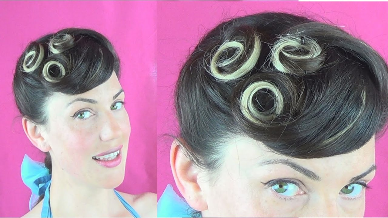 Easy Everyday Pinup Hairstyle 3 Little Pincurls Vintagious Youtube
