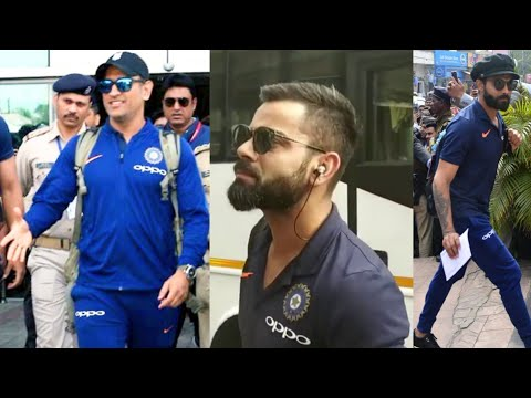 DHONI, VIRAT KOHLI, TEAM INDIA & AUS ARRIVED @ JSCA RANCHI FOR IND Vs AUS 3rd ODI MATCH JSCA STADIUM