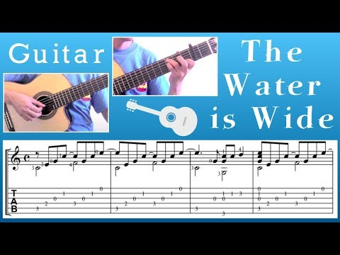 The Water Is Wide Scottish Guitar Youtube