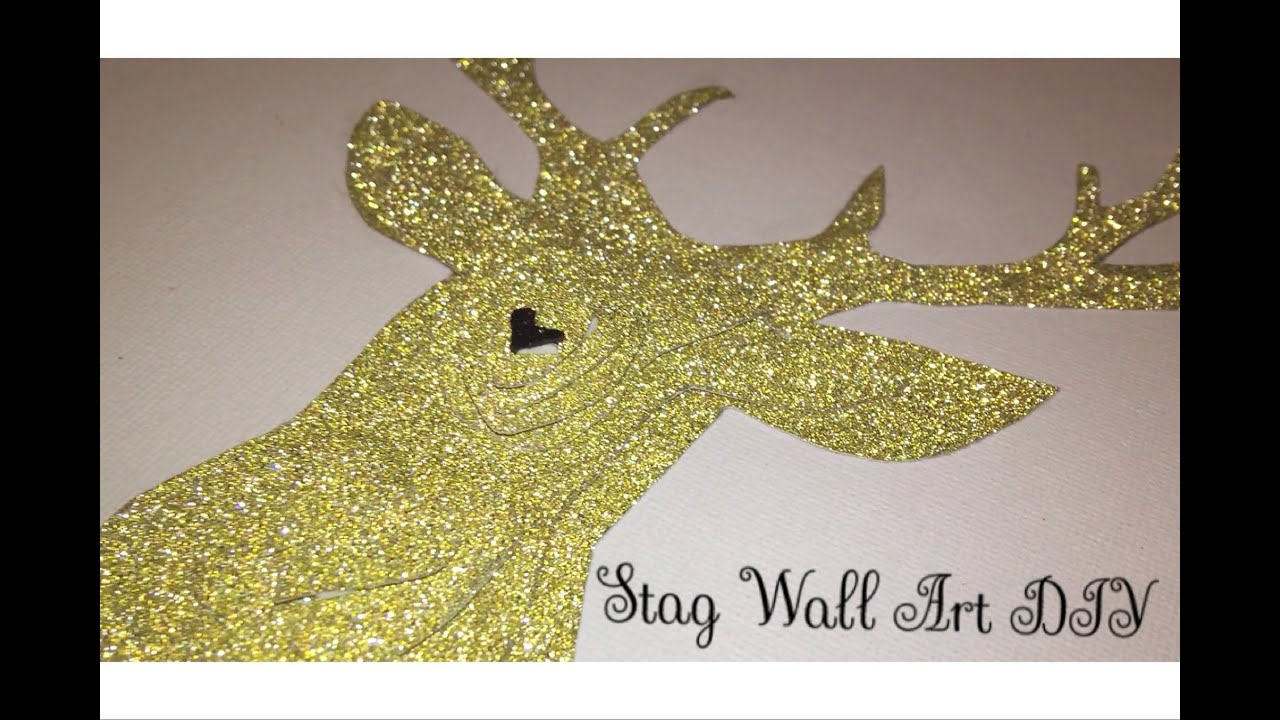 DIY 3D Stag Wall Art Tutorial | Easy Home Decor DIY - YouTube