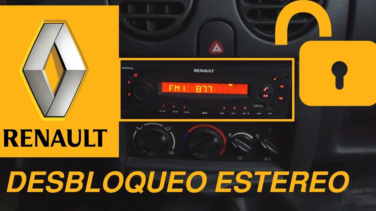 Código PIN DE DESBLOQUEO DE RENAULT MEGANE SCENIC LAGUNA CLIO TWINGO descodificación radio Kangoo