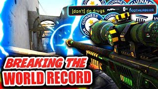 BREAKING THE WORLD RECORD NO SCOPE (CS GO Funny Moments)