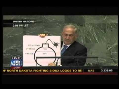 Netanyahu Brings Visual Aid  Bomb Drawing  To UN General Assembly Speech