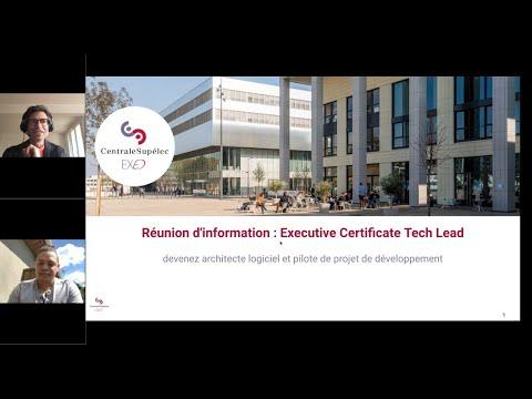 Executive Certificate Tech Lead - Réunion d'Information