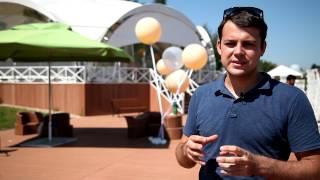 Оформление свадьбы большими метровыми шарами с гелием