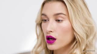 Mineralist Hydra-Smoothing Lipstick Looks Tutorial with Hailey Bieber   bareMinerals