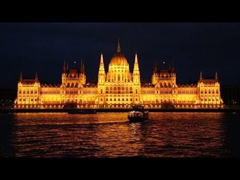 Budapest by night:  Buda Castle, Parliament & Chain Bridge