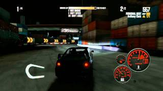 NFS Shift 2 Unleashed Drift Gameplay + Replay 4WD Drift with Lancer Evo 9 on Tokyo Drift Course